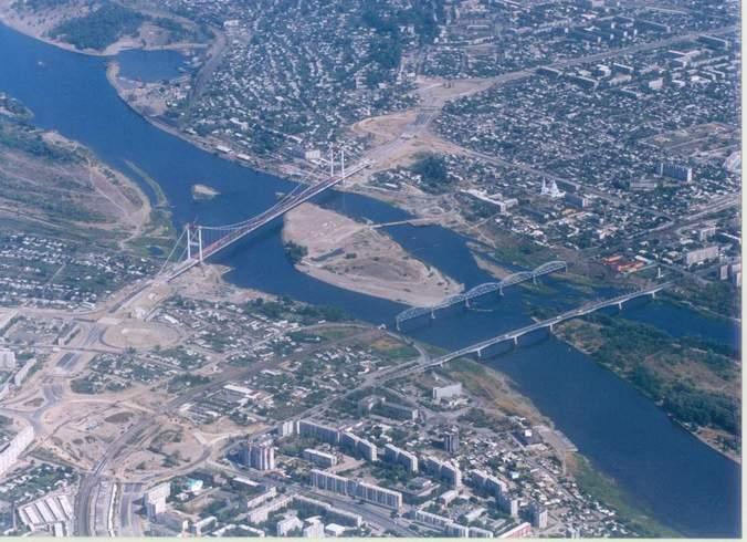 Казахстан | Это город Семипалатинск, но сейчас он называется Семей. <br>Вид с верху.