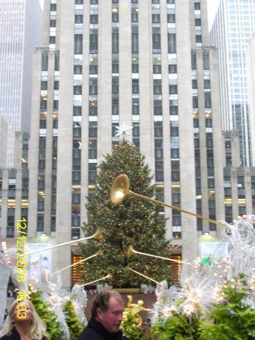 США | Рокфелер сентр перед праздником.