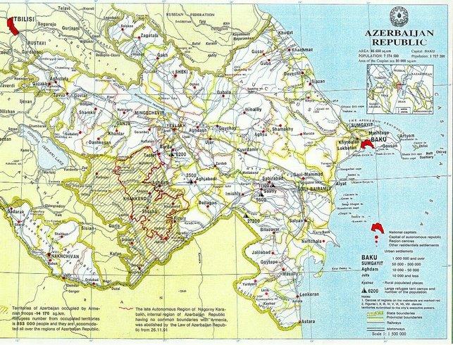 Азербайджан | Karta Azerbaycana