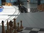| Гигантские шахматы в Хрустальной кибитке. Сити-чесс. Элиста.
