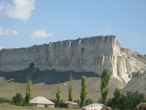 | Крым.Белая скала.На вершину есть дорога можно проехать на джипе.Вид на весь Крым.
