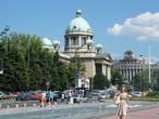 | Белград, вид на здание Скупщины