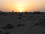 | Sunset near Tifariti, NE of Western Sahara