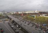 | Вид на Московский кремль и Большой каменный мост.