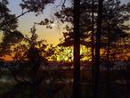   Закат на озере Выртсъярв, Вехенди