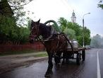 | Московская область. Павловский Посад. Раннее утро на одной из улиц города.