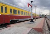 | Фрагмент экспозиции музея железнодорожного транспорта в Москве на Рижском вокзале.
